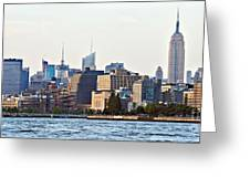 Lower West Side On The Waterfront Greeting Card