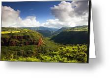 Lower Wiamea View Greeting Card