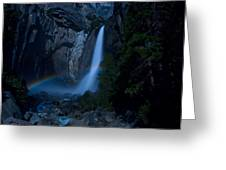 Lower Yosemite Falls Moonbow Greeting Card