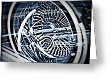 Lowrider Wheel Illusions 1 Greeting Card