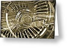 Lowrider Wheel Illusions 2 Greeting Card