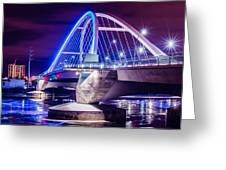 Lowry Bridge @ Night Greeting Card