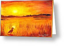 Loxahatchee Sunrise Greeting Card