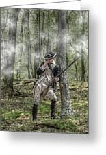 Loyalist Skirmisher  American Revolution Greeting Card by Randy Steele