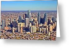 Lrg Format Aerial Philadelphia Skyline 226 W Rittenhouse Sq 100 Philadelphia Pa 19103 5738 Greeting Card