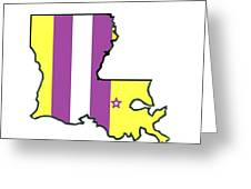 Lsu Louisiana Greeting Card