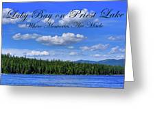 Luby Bay On Priest Lake Greeting Card