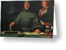 Luca Pacioli, Franciscan Friar Greeting Card by Science Source