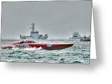 Lucas Oil Superboat Race Greeting Card