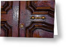 Lucca Door Greeting Card
