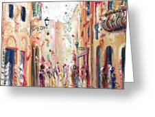 Lucca Street Greeting Card