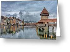 Lucerne Chapel Bridge Greeting Card
