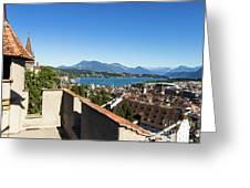Lucerne Old Town In Switzerland Greeting Card
