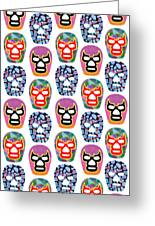 Lucha Libre Masks Greeting Card