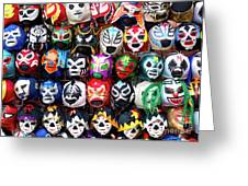 Lucha Libre Wrestling Masks Greeting Card