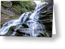 Lucifer Falls In Robert H. Treman State Park Greeting Card