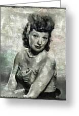 Lucille Ball Vintage Hollywood Actress Greeting Card