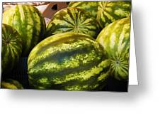 Lucious Watermelon Greeting Card