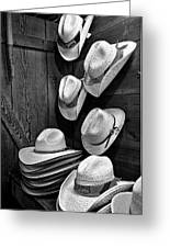 Luckenbach Hats Black And White Greeting Card