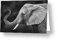 Lucky - Black And White Greeting Card