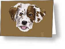 Lucky Brown Mixed Breed Greeting Card