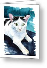 Lucky Elvis - Cat Portrait Greeting Card