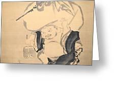 Lucky Gods Hotei Greeting Card