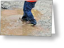 Lucky Puddle  Greeting Card