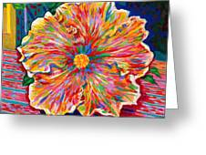 Lucky We Live Hibiscus Greeting Card
