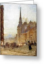 Ludgate Hill From The Steps Of The Cathedral Greeting Card