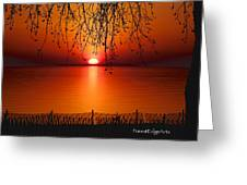 Ludington Sunset April 2016 Greeting Card