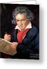 Ludwig Van Beethoven Composing His Missa Solemnis Greeting Card