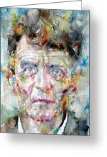 Ludwig Wittgenstein - Watercolor Portrait.2 Greeting Card