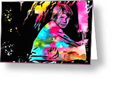 Luke Skywalker Paint Splatter Greeting Card