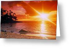 Lumahai Beach Sunset Greeting Card