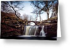 Lumb Falls Panoramic Greeting Card