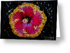 Luminous Bloom Greeting Card