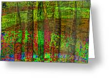 Luminous Landscape Abstract Greeting Card