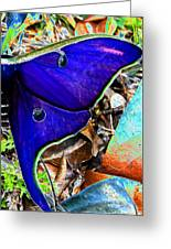 Luna Moth False Color Work One Greeting Card
