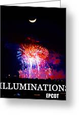 Lunar Illumanations Epcot Greeting Card