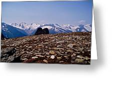Lunar Landscape In The Mountains Greeting Card