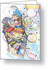 Lunas Y Estrellas Perdidas- Sombra De Arreguin Greeting Card