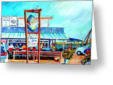 Lunch At The Clam Bar Greeting Card