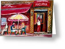 Lunch At The Mazurka Greeting Card