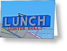 Lunch Greeting Card by Beth Saffer