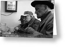 Lunch Counter Boys - Black And White Greeting Card