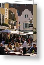 Lunch In Brighton Greeting Card by Trevor Wintle