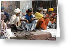 Lunch In Jaipur India Greeting Card