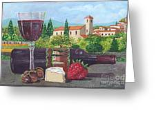 Lunch In Provence Greeting Card