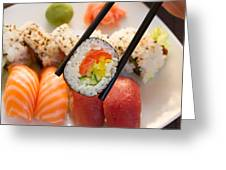 Lunch With  Sushi  Greeting Card